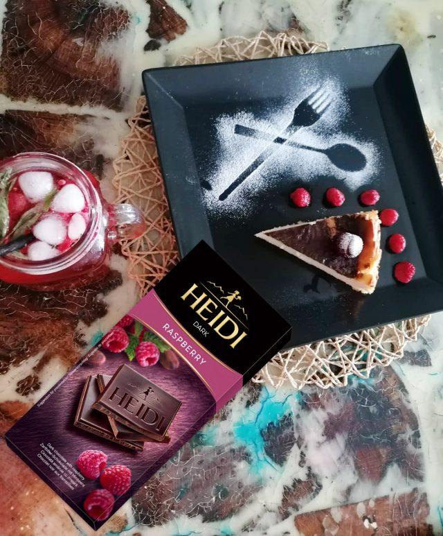 Чийзкейк с тъмен шоколад Хайди Малина